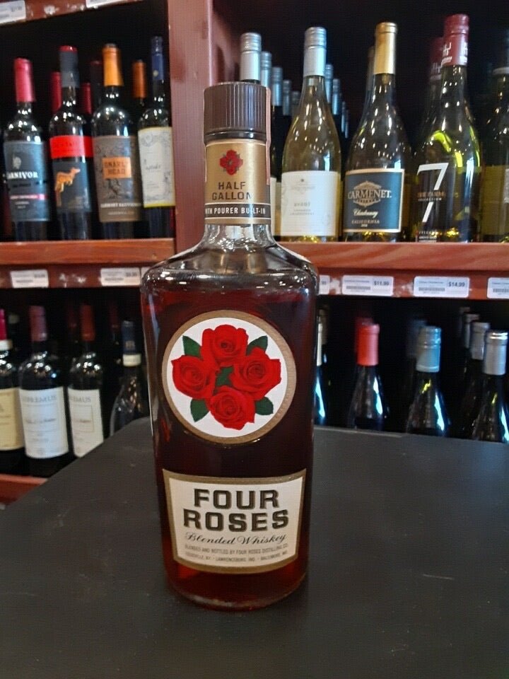 FOUR ROSES  BOURBON HALF GALLON BOTTLES 1966