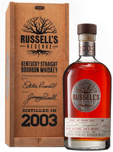 RUSSELL'S RESERVE DISTILLED IN 2003