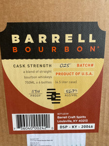 BARREL BOURON BARREL STRENGTH