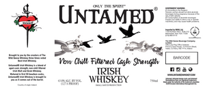 UNTAMED IRISH WHISKEY 750ML