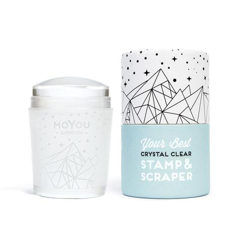 Moyou crystal clear stamper and scraper
