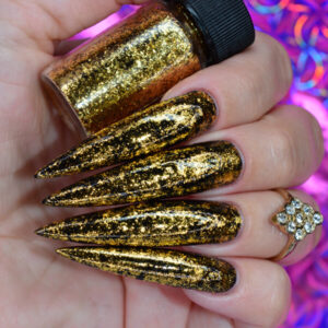 WG Zeus Gold Metallic Nail Flakes