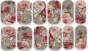 56. Grey & Pink Floral (full cover)