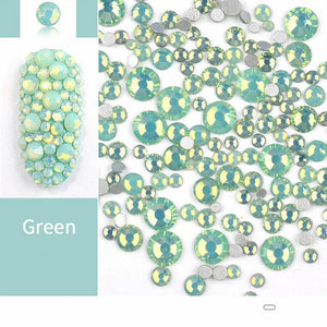 Gems Mixed Sizes Green Opal