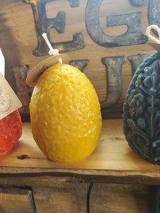 Easter egg beeswax candle