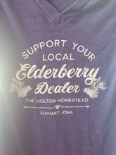 Load image into Gallery viewer, Support your local elderberry dealer V neck