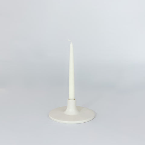 Matte White Ceramic Taper Holder