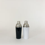 Black or White & Stainless Steel Cocktail Shaker, 16oz