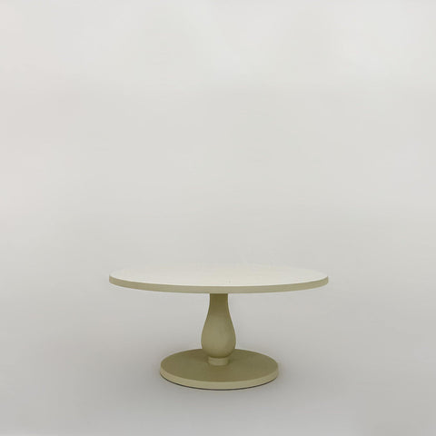 Enamel Cake Stand, Dove - KM Home