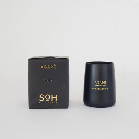 Black Matte Candle Agape - KM Home