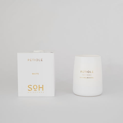 White Matte Candle Petiole - KM Home