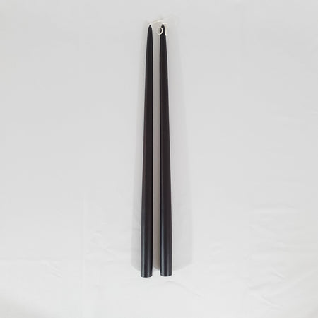 Black Taper Candle 18""