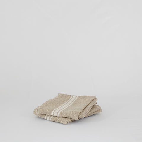 Linen Dish Towel with White Stripe - KM Home
