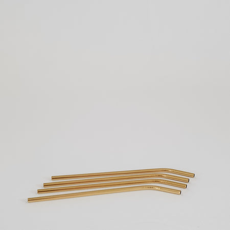 Set of Four Brass Straws