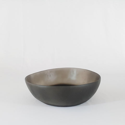 Black Round Resin Bowl