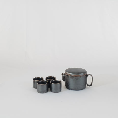 Tea Cups Set 4, Onyx