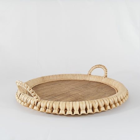 Kenis Braided Round Tray