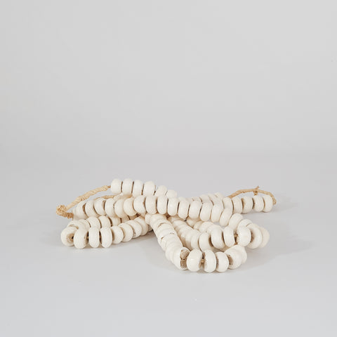 Large Polished White Bone Beads