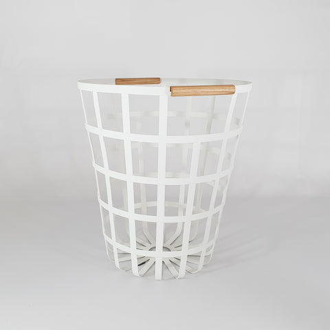 White Laundry Wire Basket