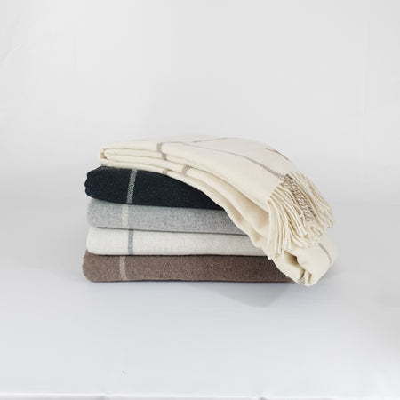 Windowpane Cashmere/Lambswool Throw