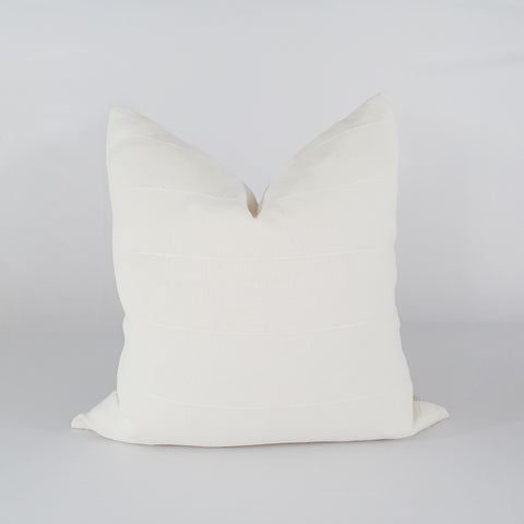 Off White Cotton Stripe Pillow
