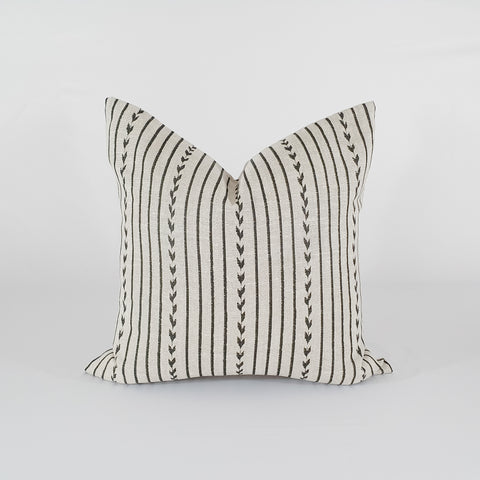 Natural and Black Stripe Pillow