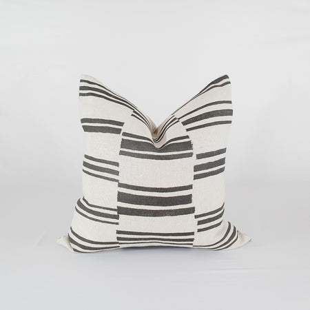 Black Kilim Stripe Pillow