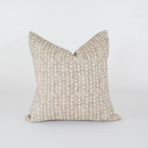 Tan & Natural Pillow Cover