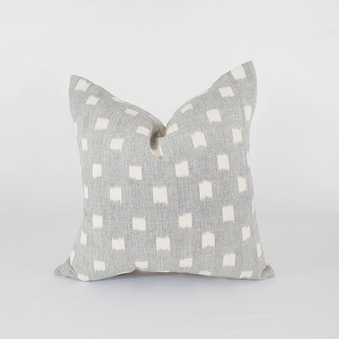 Grey Ikat Dot Pillow