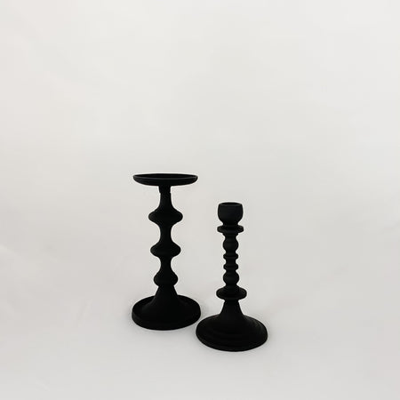 "8"" Matte Black Pillar Holder"
