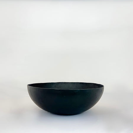 Matte Black Embossed Bowl