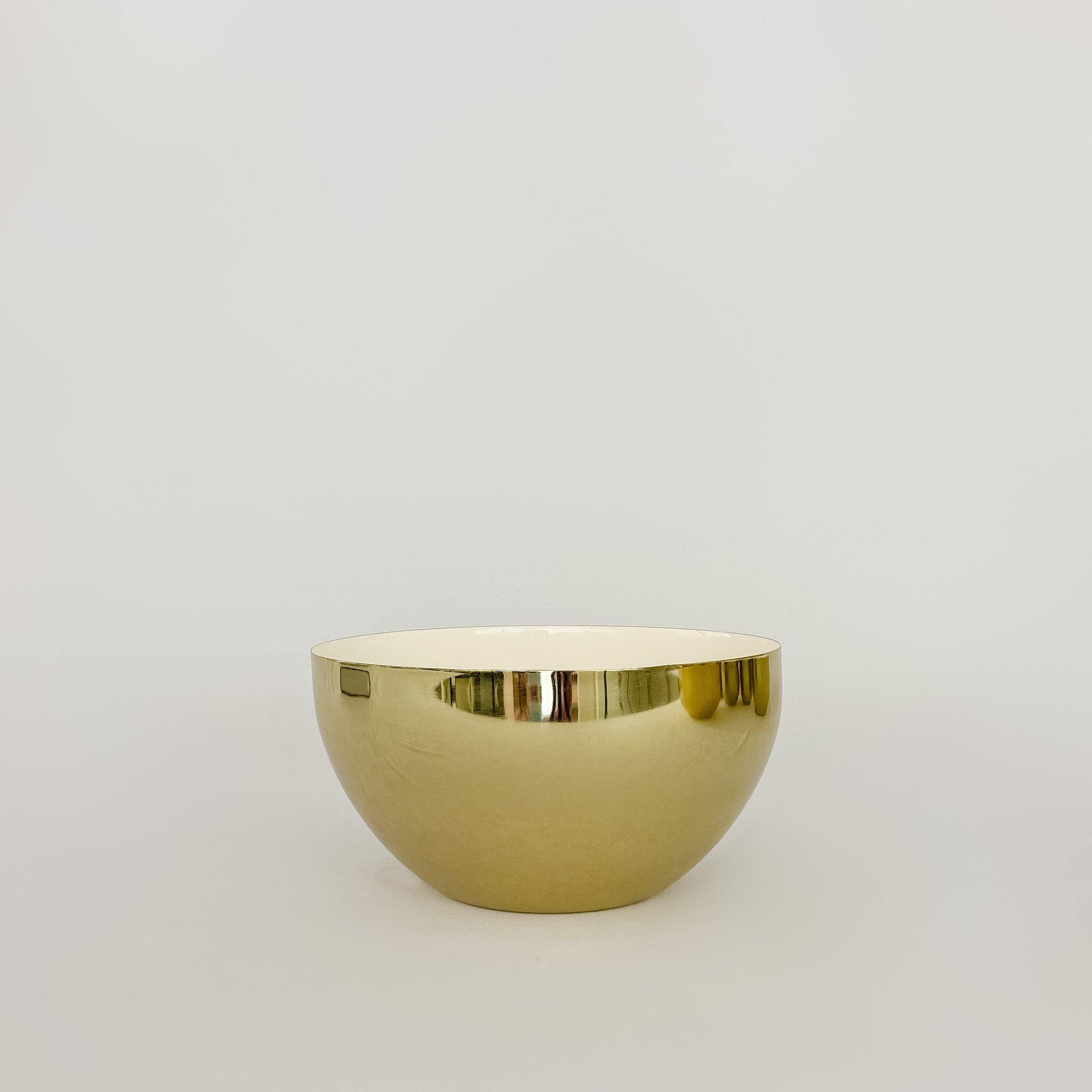 Louise Brass & White Bowl
