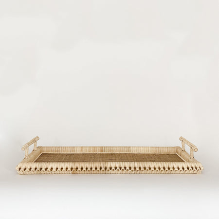 Braided Rattan Rectangle Tray - KM Home