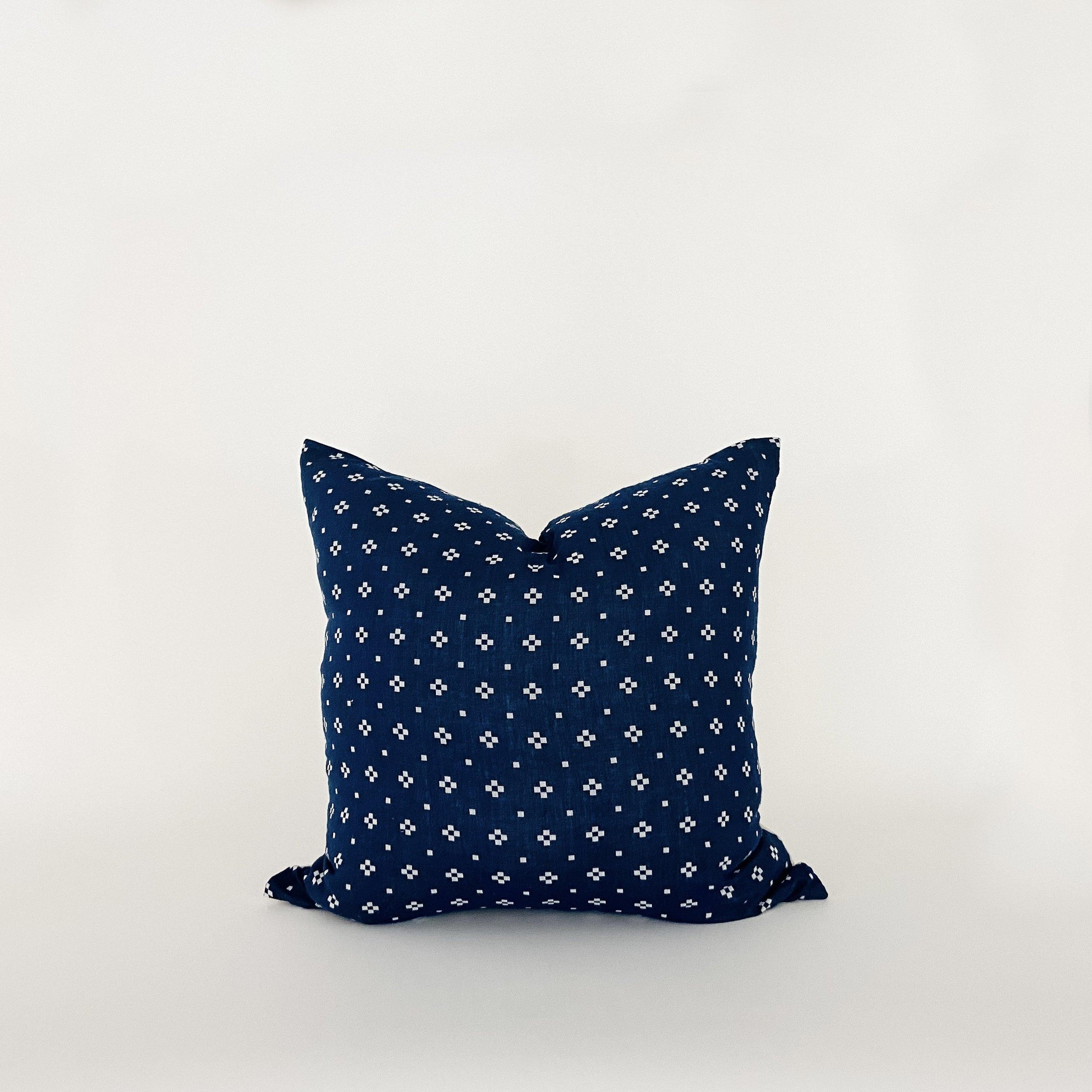 Diamond Indigo & White Pillow - KM Home