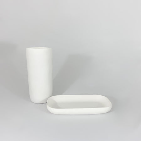 Large Albert Vase - white