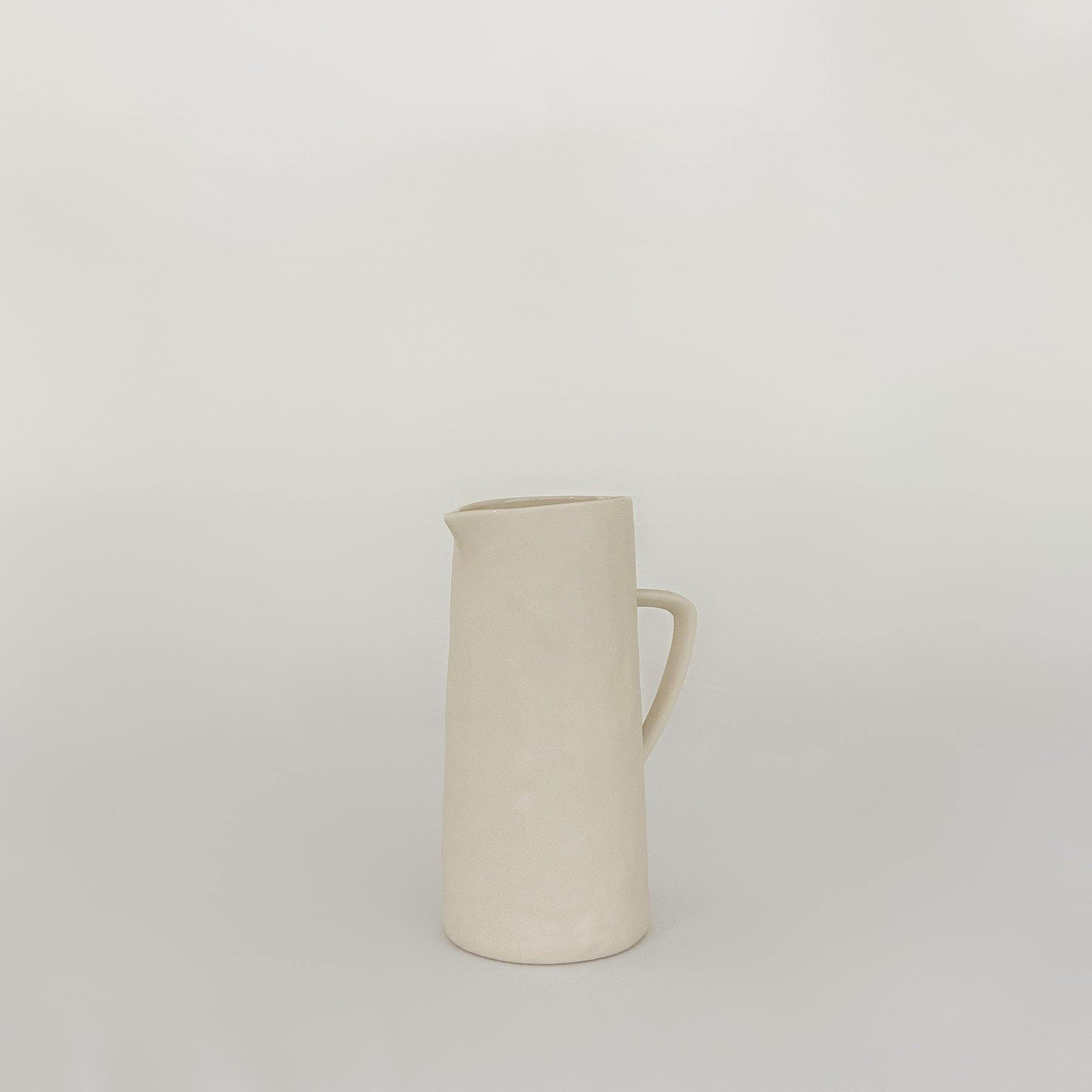 Stoneware Pitcher, White - KM Home