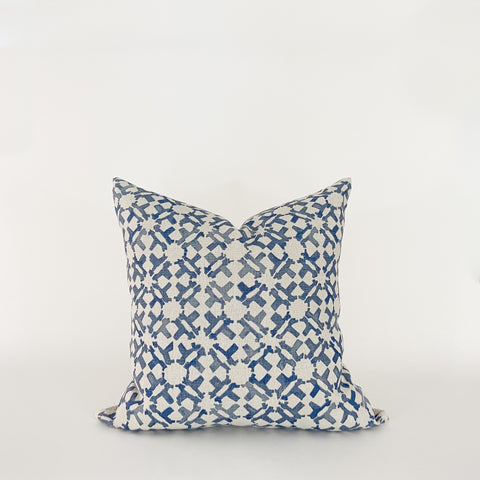 Orcha Patterned Pillow, Indigo