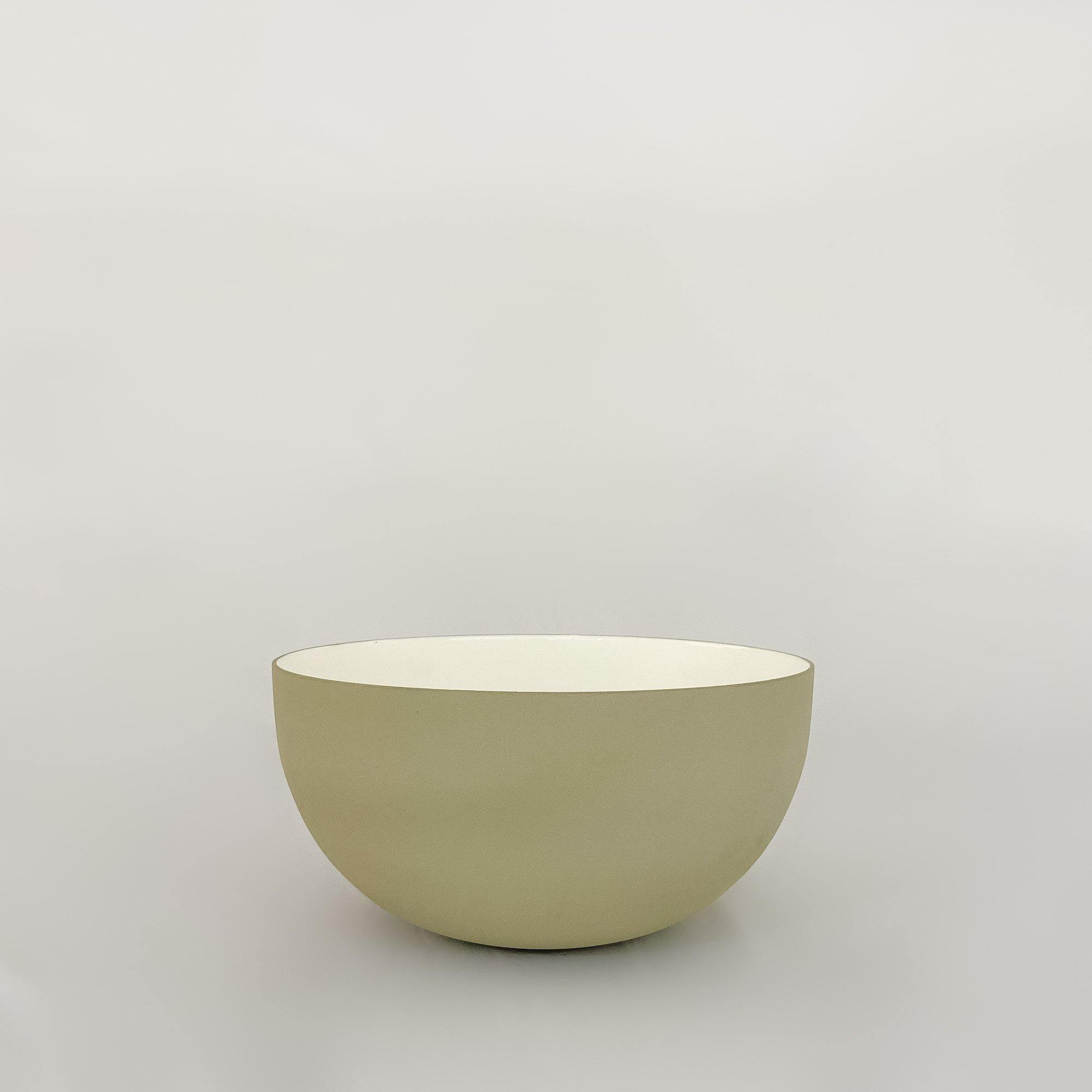 Large Enamel Bowl, Dove