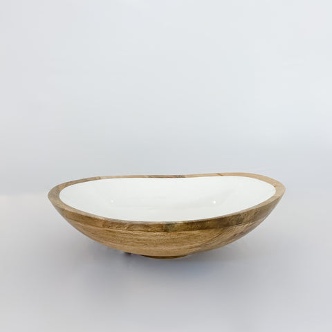 Round Mango Wood Bowl