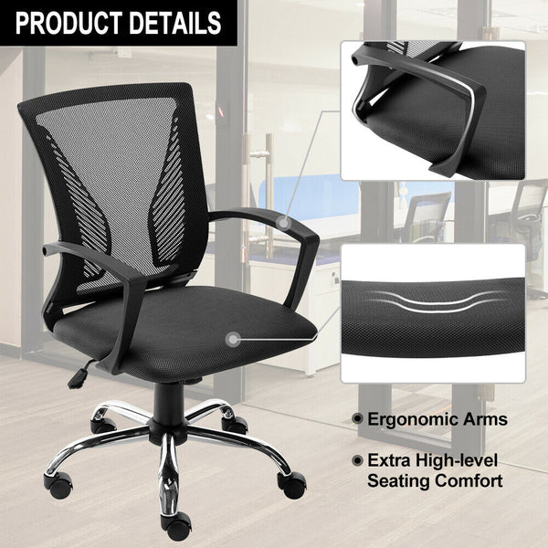 Ergonomic Office Chair Executive Home Desk Computer Chair Adjustable Swivel Mesh Task Chair