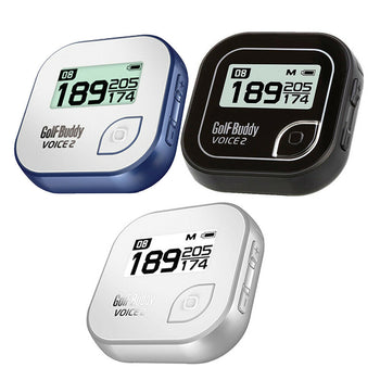 Golf Buddy Voice 2 GPS Rangefinder Rechargeable watch clip-on - 38,000 Courses Preloaded