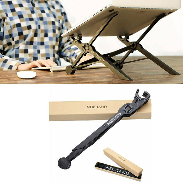 Laptop Stand Foldable Adjustable Notebook Holder Eye-Level Ergonomic