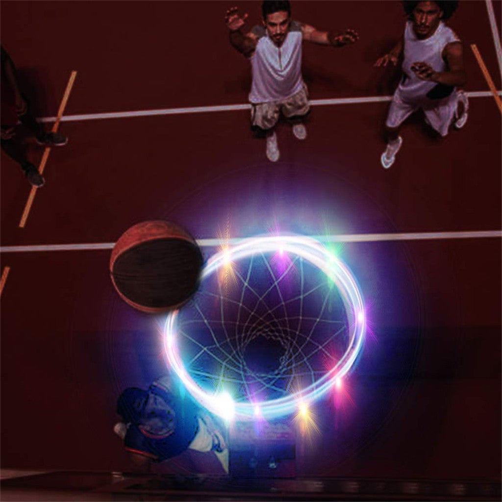 Led Basketball Hoop Light Lamp Shoot Hoops Solar Light Led Strip Lamp Basketball Rim Night Light