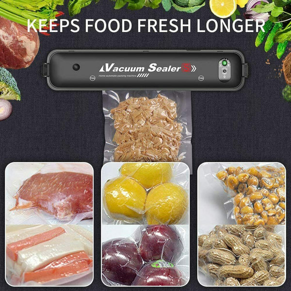 Vacuum Sealer Machine Automatic for Food Preservation with 15 Pcs Saver Bags