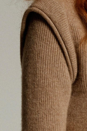 The Cashmere High Neck in Fawn