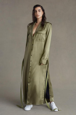 The Archive Signature Shirtdress in Olive