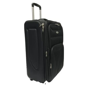 "4 pieces set expandable 4 wheel luggage 32"" 28"" 24"" 20"" black"