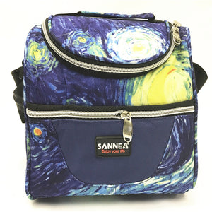 Lunch bag CL691 blue flower