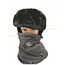 Load image into Gallery viewer, Unisex Winter Warm Thick Windproof hat with breathing valve black