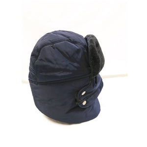 Unisex Winter Warm Thick Windproof hat  blue